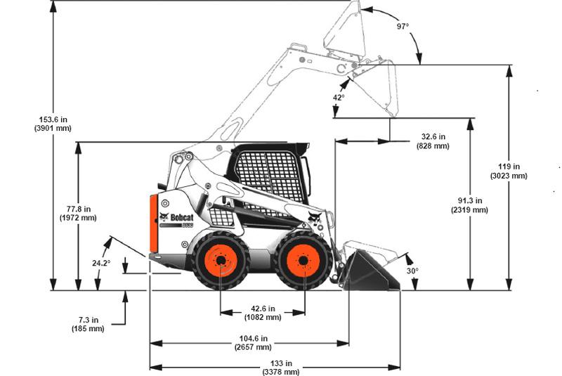 мини погрузчик Bobcat S530 новой M серии технические характеристики
